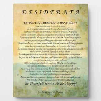 Placa Expositora Poema de los desiderátums en bosque de la acuarela