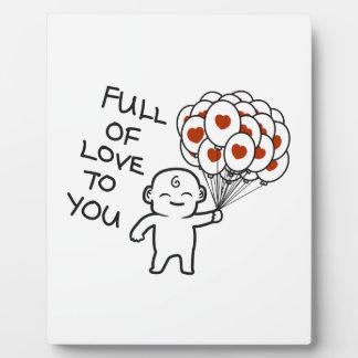 Placa Expositora Por completo del amor a usted