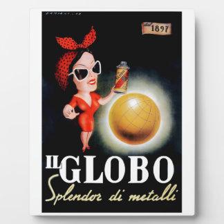 Placa Expositora Poster italiano 1949 de la publicidad de IL Globo