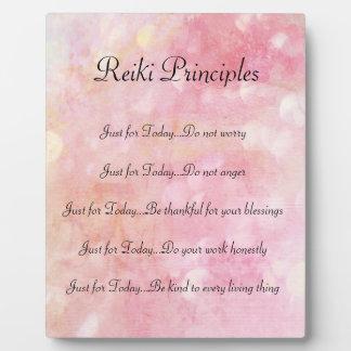 Placa Expositora Principios de Reiki