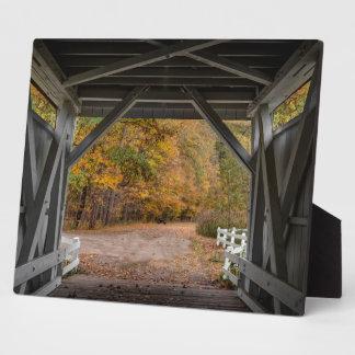Placa Expositora Puente cubierto del camino de Everatt