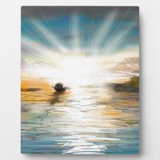 Placa Expositora Puesta del sol