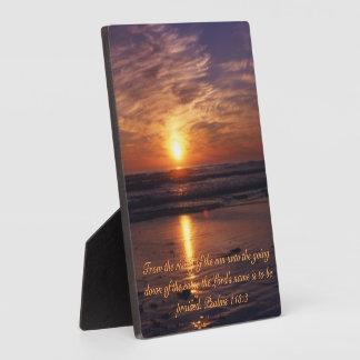 Placa Expositora Puesta del sol del océano
