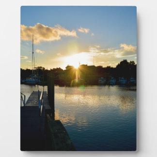 Placa Expositora Puesta del sol sobre Cape Cod
