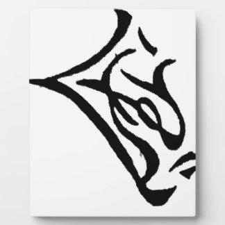 Placa Expositora Reanudación japonesa de los caracteres