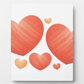 Placa Expositora Regalo del el día de San Valentín con el corazón y