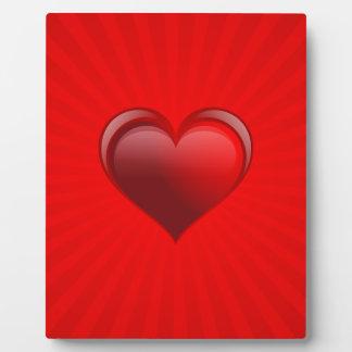 Placa Expositora Regalo rojo romántico de la bandera con amor y