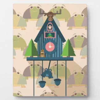 Placa Expositora Reloj de cuco con el papel de empapelar de la