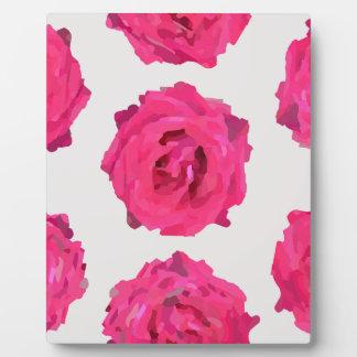 Placa Expositora rosas frescos