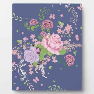Placa Expositora Rosas y ornamento 4 de las mariposas