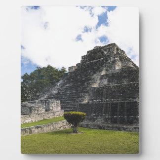 Placa Expositora Ruinas mayas de Chacchoben del maya de la costa