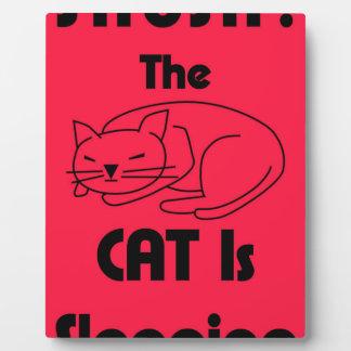 Placa Expositora ¡SHUSH! El gato está durmiendo
