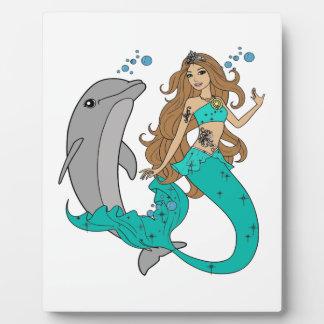 Placa Expositora Sirena con el delfín