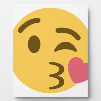 Placa Expositora Smiley Kiss Emoji