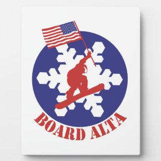 Placa Expositora Snowboard Alta