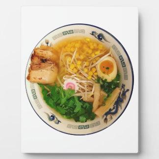 Placa Expositora Sopa de fideos de los Ramen del cerdo