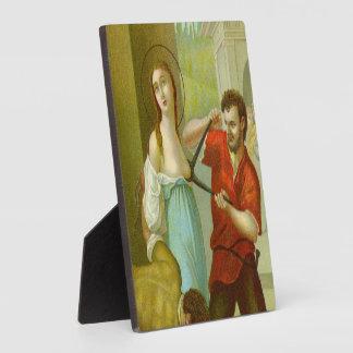 """Placa Expositora St. Agatha (M 003) 5,25"""""""" cuadrado x5.25"""
