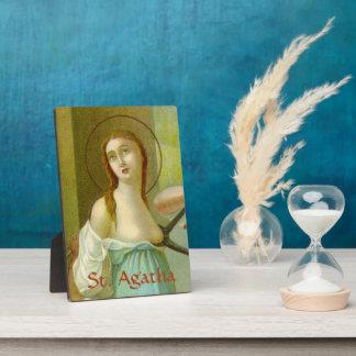 "Placa Expositora St. Agatha (M 003) 5"" x7 """