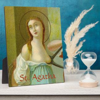 "Placa Expositora St. Agatha (M 003) 8"" x10 """