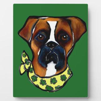 Placa Expositora St. Patty del perro del boxeador