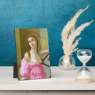 "Placa Expositora St. rosado Agatha (M 003) 5"" x7 """