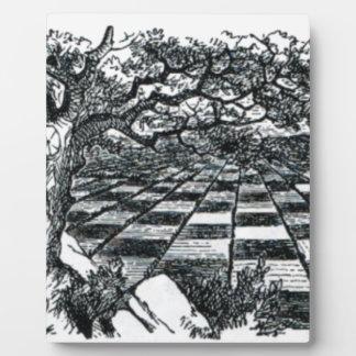 Placa Expositora Tablero de ajedrez en el país de las maravillas