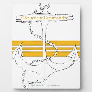 Placa Expositora teniente comandante del oro, fernandes tony