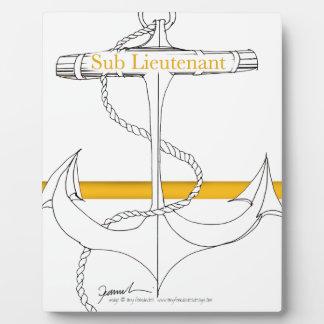 Placa Expositora teniente sub del oro, fernandes tony