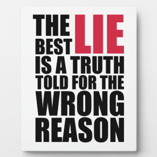 Placa Expositora The Best Lie