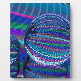Placa Expositora Tres bolas de cristal en color