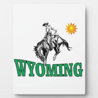 Placa Expositora Vaquero de Wyoming