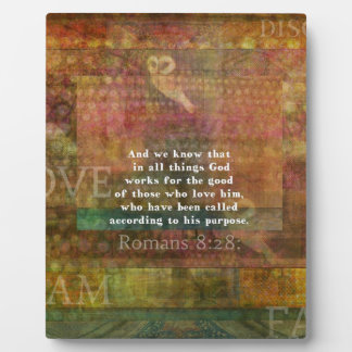 Placa Expositora Verso inspirado de la biblia