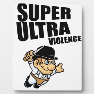Placa Expositora violencia estupenda del dibujo animado ultra