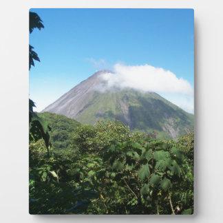 Placa Expositora volcán de Arenal