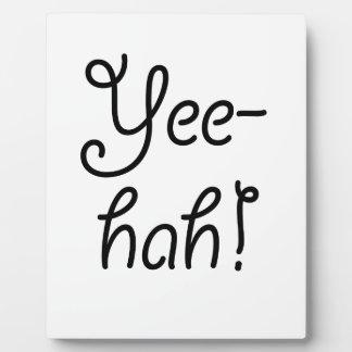 Placa Expositora ¡Yee-hah!