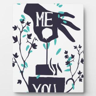 Placa Expositora Yo usted diseño del amor