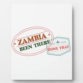 Placa Expositora Zambia allí hecho eso