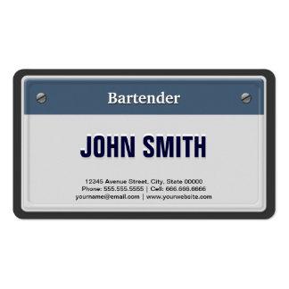 Placa fresca del coche del camarero plantillas de tarjetas personales