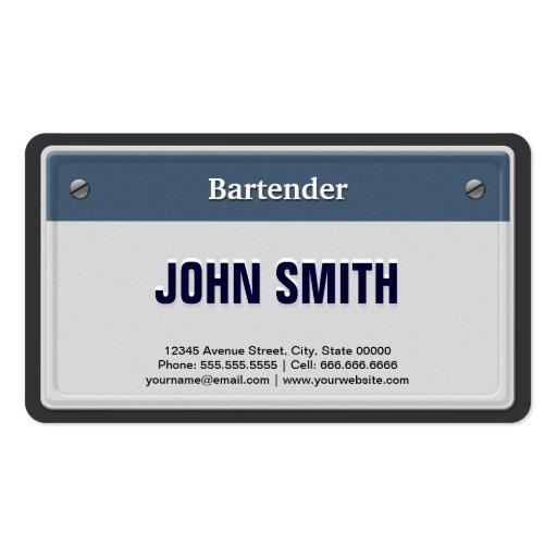Placa fresca del coche del camarero plantilla de tarjeta de visita