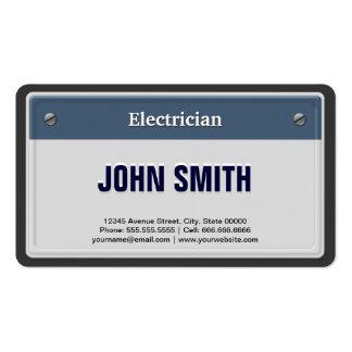 Placa fresca del coche del electricista tarjeta de visita