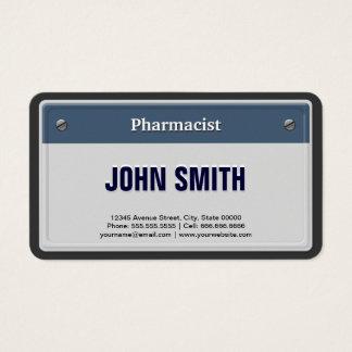 Placa fresca del coche del farmacéutico tarjeta de negocios