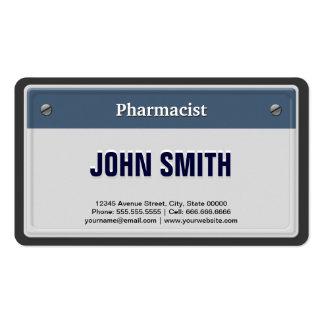 Placa fresca del coche del farmacéutico tarjetas de visita