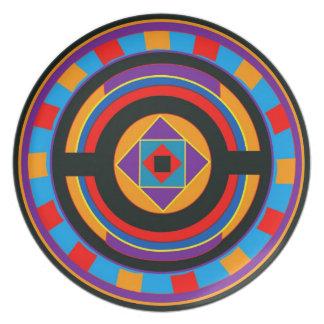 Placa geométrica platos de comidas