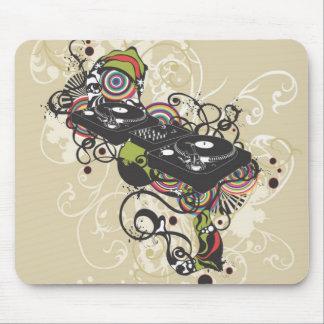 Placa giratoria Mousepad de DJ Alfombrilla De Ratón