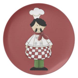 Placa italiana del cocinero #2 platos para fiestas