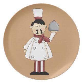 Placa italiana del cocinero #4 plato de cena