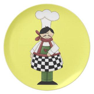 Placa italiana del cocinero #8 plato de cena