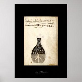 Placa italiana medieval 10 del poster de la alquim