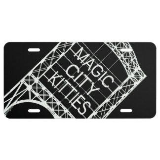 Placa mágica de los gatitos de la ciudad