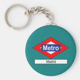 Placa Metro Madrid Llavero